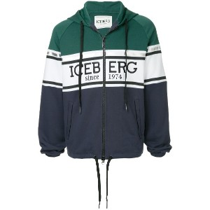 Iceberg logo embroidered jacket - マルチカラー