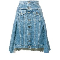 Levi's: Made & Crafted button denim skirt - ブルー