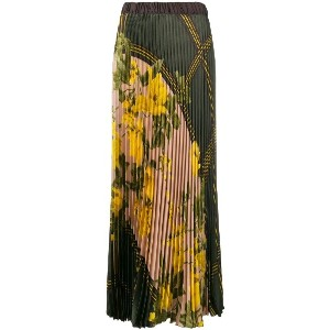 P.A.R.O.S.H. pleated floral skirt - グリーン