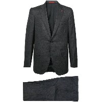 Isaia checked two-piece suit - グレー