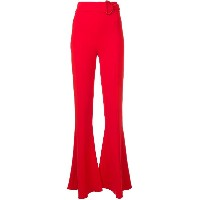 Cushnie high-waisted flared trousers - レッド