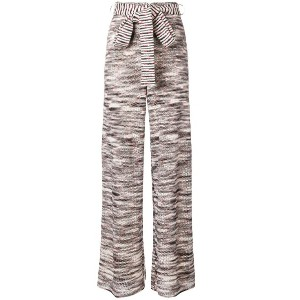 Missoni flared knitted trousers - ホワイト