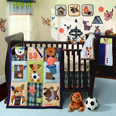 Lambs & Ivy Bow Wow 9-Piece Crib Bedding Set by Lambs & Ivy
