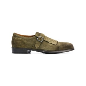 Doucal's buckle trim monk shoes - グリーン