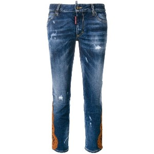 Dsquared2 cropped jeans - ブルー