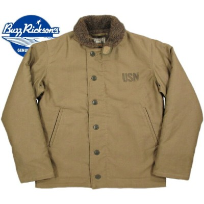 "BUZZ RICKSON'S/バズリクソンズ Jacket, Deck, Zip Type N-1 KHAKI""NAVAL CLOTHING DEPOT""DEMOTEX-ED N-1デッキジャケット..."