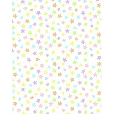 SheetWorld Fitted Pack N Play (Graco) Sheet - Pastel Colorful Stars Woven - Made In USA by...