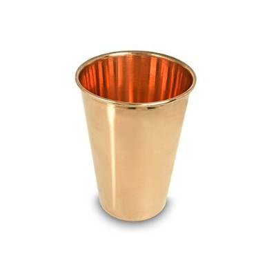 100% Pure Copper Drinking cup- Largeサイズ厚、スーパー、Ayurvedic Drinking Cup。