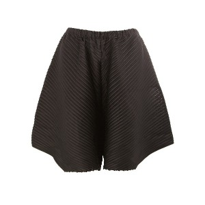 Pleats Please By Issey Miyake embossed pleats asymmetric shorts - ブルー