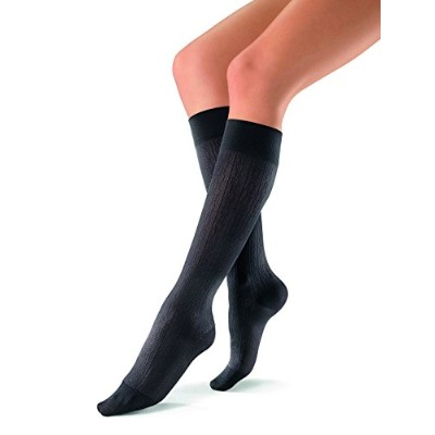 Jobst soSoft Women Brocade Knee Highs 30-40mmHg, L, Black by Jobst