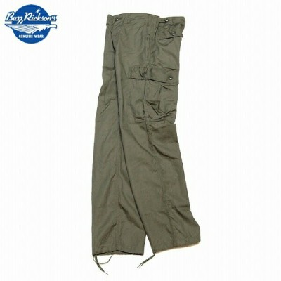 BUZZ RICKSON'S (バズリクソン)TROUSERS,MEN'S,COTTON WIND RESISTANT POPLIN,OLIVE GREEN ARMY SHADE 107...