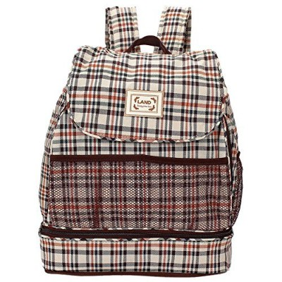 LAND Diaper Nappy Changing Bag Backpack Beige by LAND