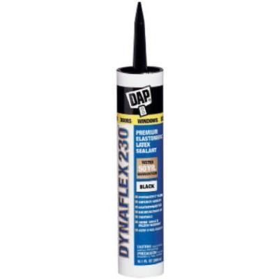 (black) - Dap 18280 300ml Dynaflex 230 Premium Indoor/Outdoor Sealant, Black