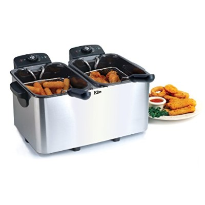 Elite Platinum EDF-4080 Maxi-Matic 8 Quart Deep Fryer, Stainless Steel by Elite Platinum