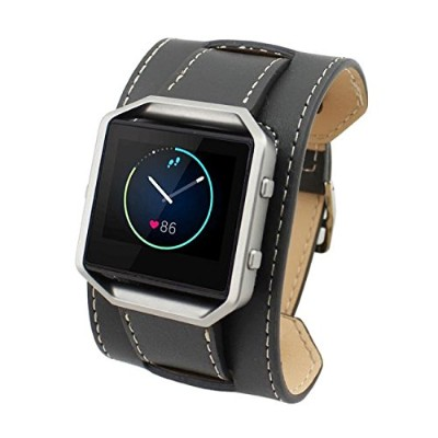 Fitbit Blaze Bands, moretoysレザー交換アクセサリーリストバンド腕時計ストラップfor Fitbit Blaze Smart Fitness Watch With...