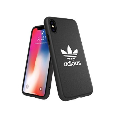 Adidas 31584 OR Moulded Case CLASSICS TREFOIL FW18 black/white 〔iPhone XS/X用〕