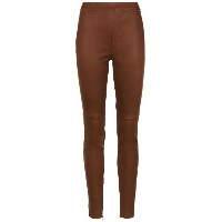 Nk leather skinny trousers - ブラウン