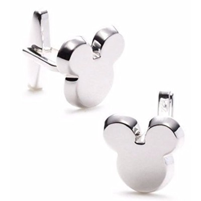 Disney 's Mickey Mouse Character耳メタルSilvertone Cufflinks