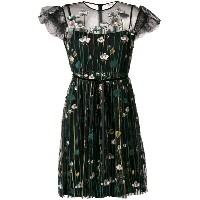 Red Valentino embroidered Tulle dress - ブラック