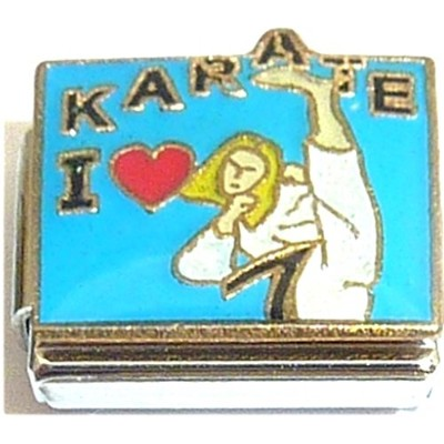 I Love Karate Girl Kickingイタリアチャーム