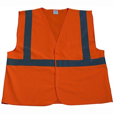 Petra Roc OV2-EC-4X-5X Safety Vest Economy Line Ansi Class Ii Orange Solid44; 4X & 5X