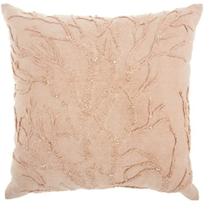 """Mina Victory by Nourison cr670スタイルツリー、生命のクッション、18"""" x 18"""" Blush"""