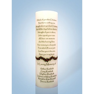 """Personalized Candle StoreクリスマスMemorial Candle 12"""" Flameless Candle 754769802497"""