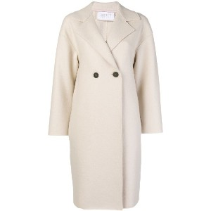 Harris Wharf London two button double breasted coat - ニュートラル