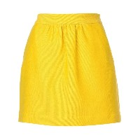 Milly short A-line skirt - イエロー&オレンジ