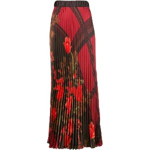 P.A.R.O.S.H. floral pleated skirt - レッド