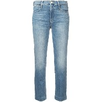 FRAME cropped faded jeans - ブルー