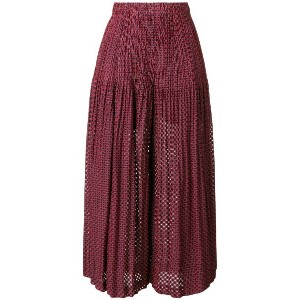 Pleats Please By Issey Miyake patterned palazzo pants - レッド