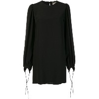Saint Laurent tie sleeve dress - ブラック