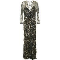 Jenny Packham sequin embroidered gown - メタリック