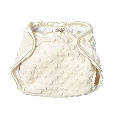 My Blankee Minky Dot Diaper Cover, Cream, 0-3 Months by My Blankee
