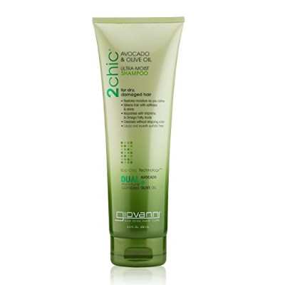 海外直送品2Chic Ultra-Moist Shampoo, Avocado and Olive Oil 8.5 OZ by Giovanni Cosmetics