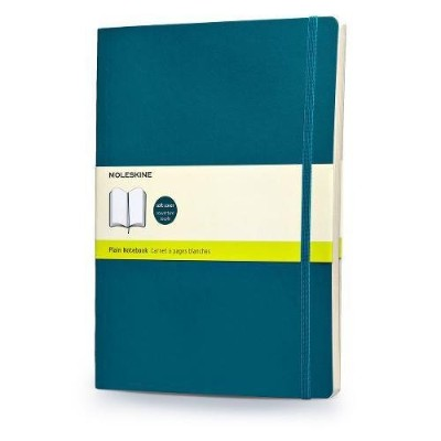 Moleskine Classic Colored Notebook, Extra Large, Plain, Underwater Blue, Soft Cover (7.5 x 10)