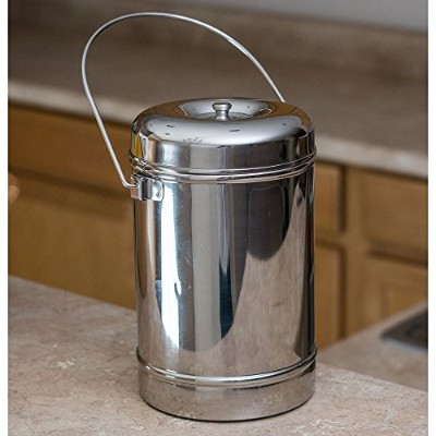 (Small) - Qualways Stainless Steel 1.7l (Or 1770ml) Milk Can Tote Model 1 (Small)
