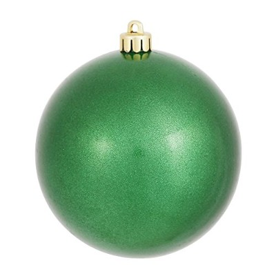 (Green) - Vickerman Candy Finish Seamless Shatterproof Christmas Ball Ornament, UV Resistant with...