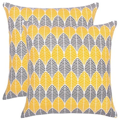 (46cm x 46cm , Grey) - BBD Pack of 2 Throw Pillow Covers Cushion Cases Cushion Covers in Cotton...
