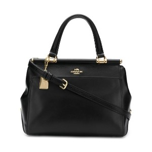 Coach structured tote bag - ブラック