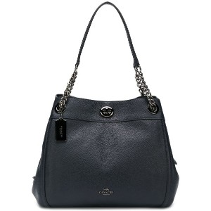 Coach embossed logo tote bag - ブルー