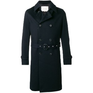 Mackintosh double-breasted trench coat - ブルー