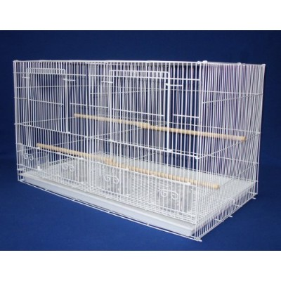 YML Small Breeding Cages with Divider, White by YML