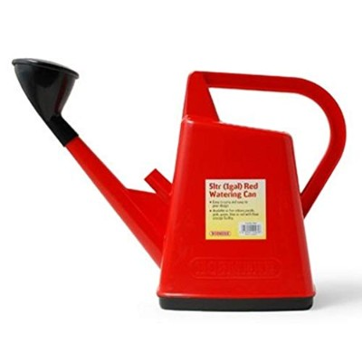 BOSMERE 5Ltr 1Gall Watering Can N565 Red