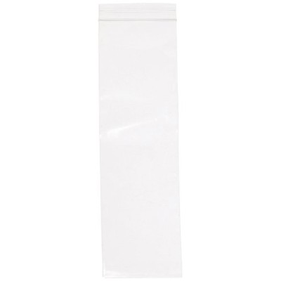 Aviditi PB3557 Poly Reclosable Bag, 25cm Length x 7.6cm Width, 2 mil Thick, Clear (Case of 1000)