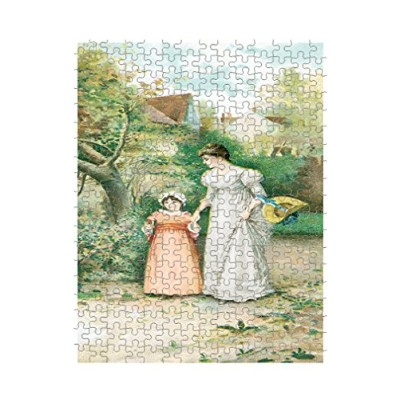 MOM AND DAUGHTER古いポスタージグソーパズル印刷 252 Pieces PUZLOLDTC194_R_252P