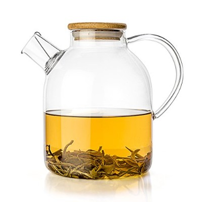 (1770ml) - Tealyra - Glass Kettle 60-ounce - Stove-top Safe - Heat Resistant Borosilicate - Pitcher...