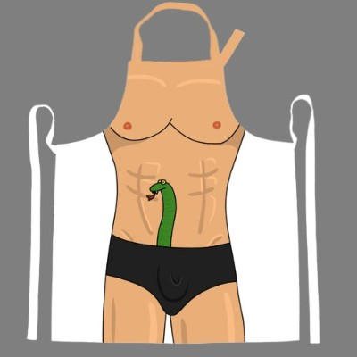 Snake inパンツBBQ Apron