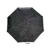 Moschino logo printed umbrella - ブラック